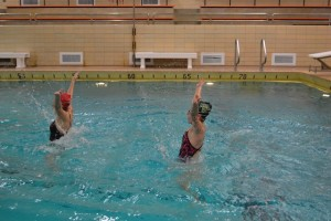 Swimmers tread into tough competition
