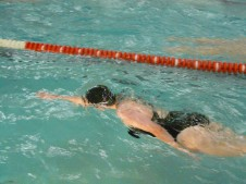 Girls' swimming crawls towards conference champs