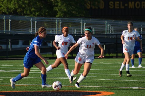 Girls' soccer wins first conference game