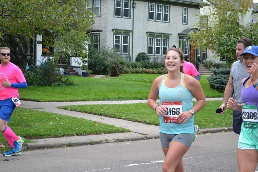 Senior runs her third marathon