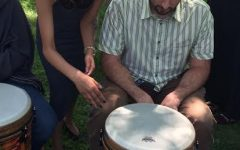 World drumming performs for local company