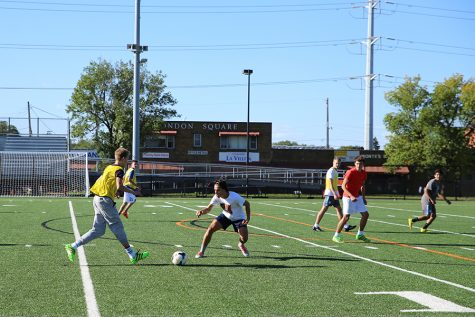Boys' soccer relaxes after double header