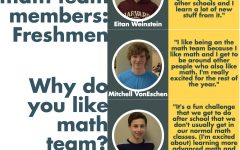 Meet the math team freshmen