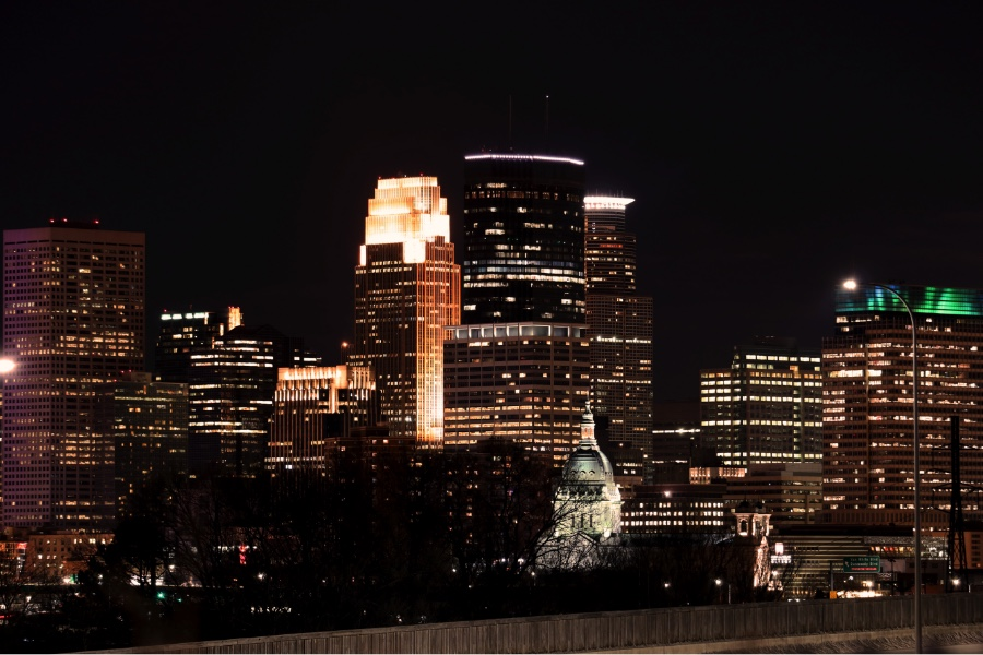 The Minneapolis skyline on March 13. City of Minneapolis Media Relations Coordinator Casper Hill said because there is not a clear way to definition of sanctuary city, it is unclear whether Minneapolis is or is not a sanctuary city.