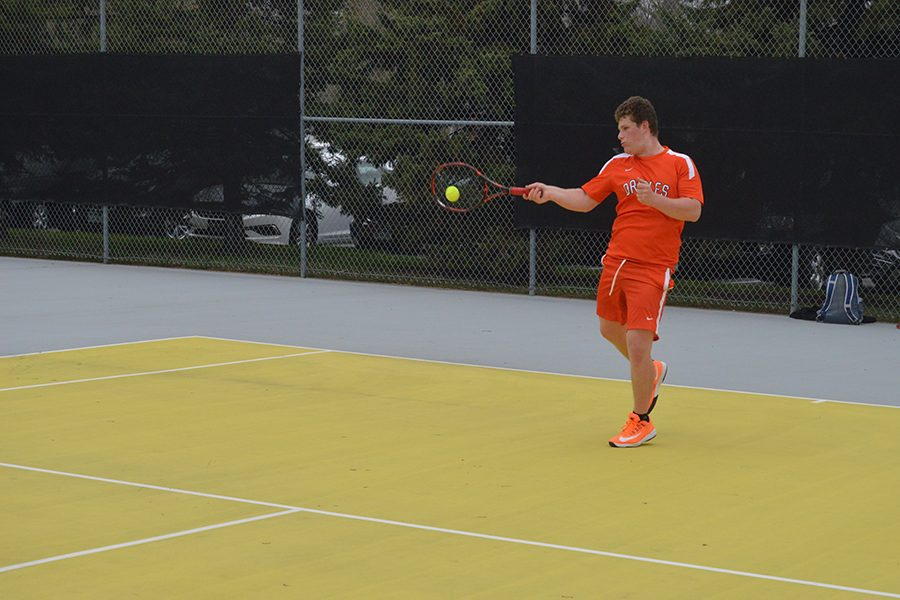 Boys' tennis loses team Sections