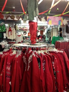 Stores, such as Ragstock, sell ugly sweaters for holiday festivities.