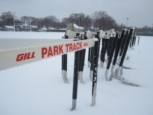 Spring sports experience a snowy beginning