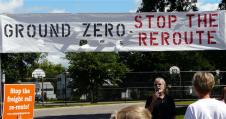 Rail reroutes evoke protest