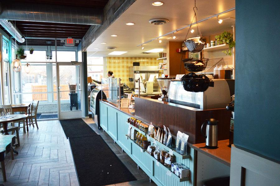 The warm, small bakery environment provides a great place to sit down and try a selection of desserts, ranging from ginger ginger cookies to their signature chocolate coconut cream pie.