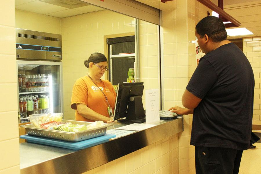 Students at snack bar look at their limited options now that Ramen, hot chocolate and apple cider were removed.