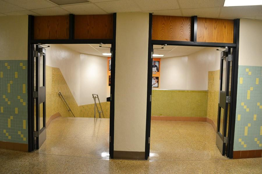 As part of an ongoing maintenance project, the district painted all of the door frames in the high school black.