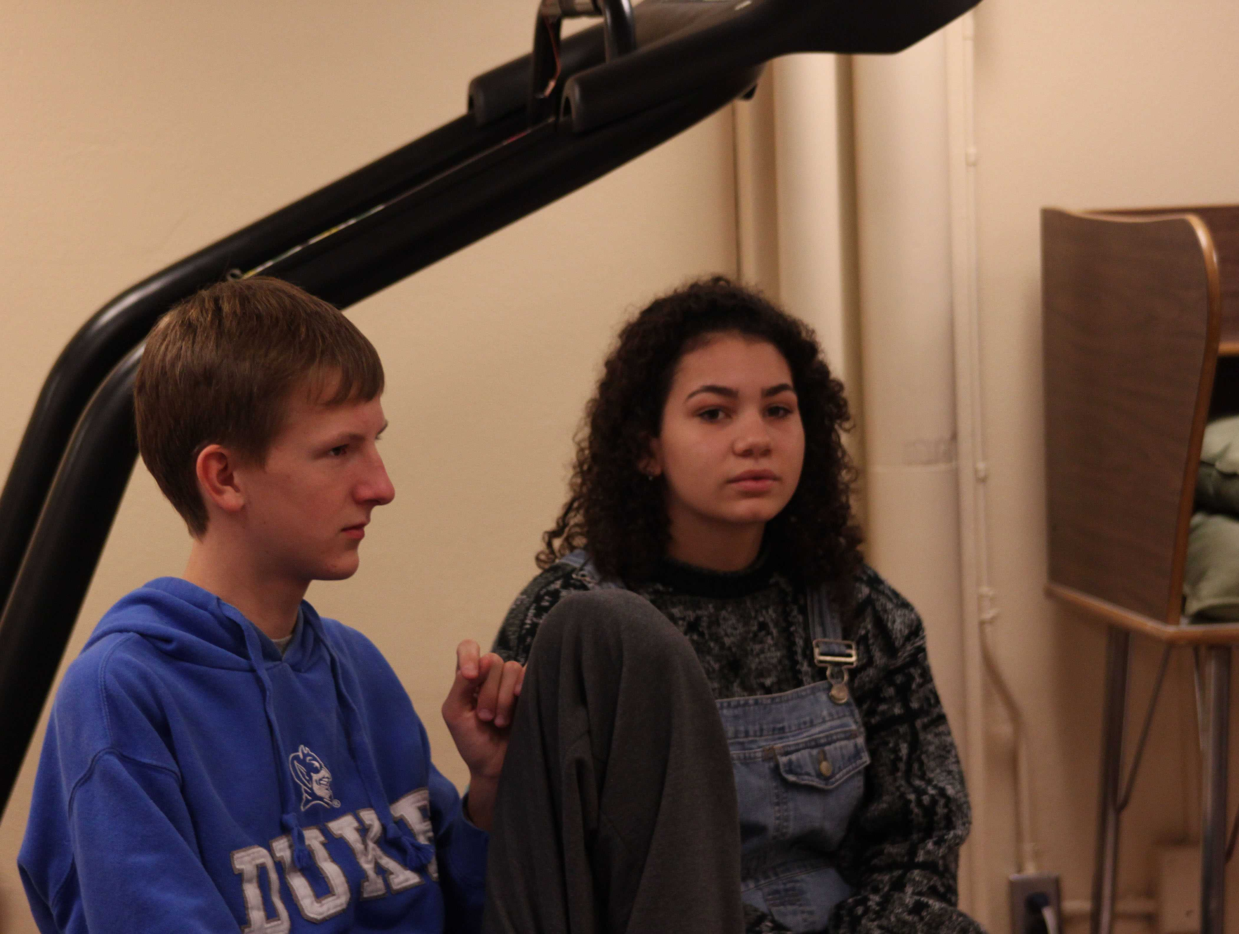 Sophomore Philip Djerf listens attentively at a SHEC meeting.