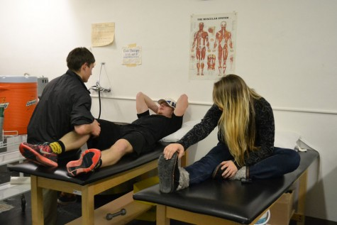 Athletes stretch to improve performance
