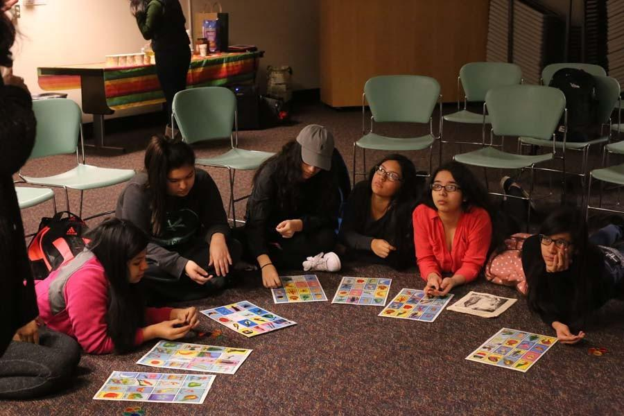 Students in the Latino Student Association play games to find connections between cultures.
