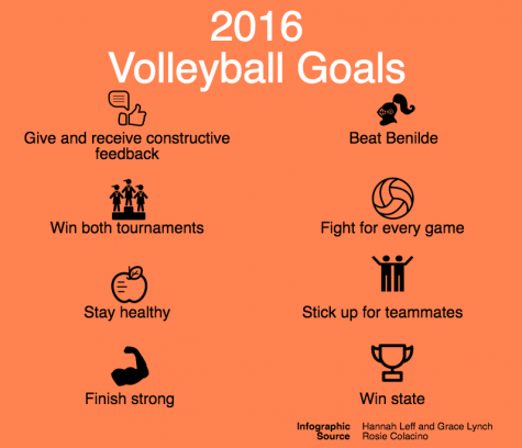 Volleyball makes goals for the season