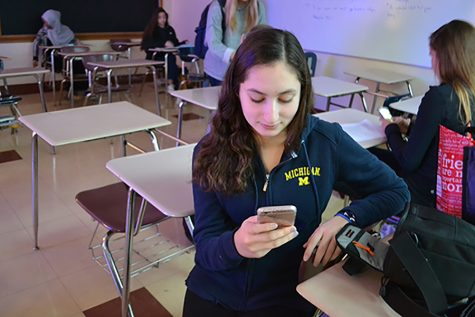 Junior Ilana Meisler connects to Guest Wi-Fi. Many students have responded to slow internet connections and social media blockages blockages with VPNs.