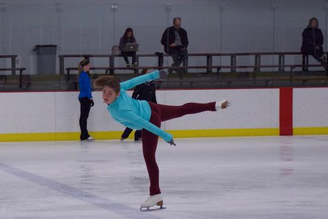 Figure skaters devote time to the ice rink