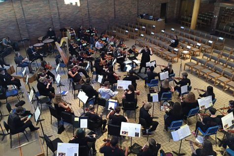 Orchestra attends workshop at Augsburg College