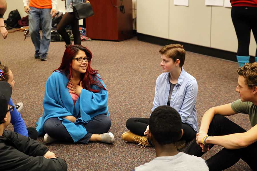 Natural Helpers members plan for the year at their training Oct. 28. Students can speak with a Natural Helper by contacting an adviser.