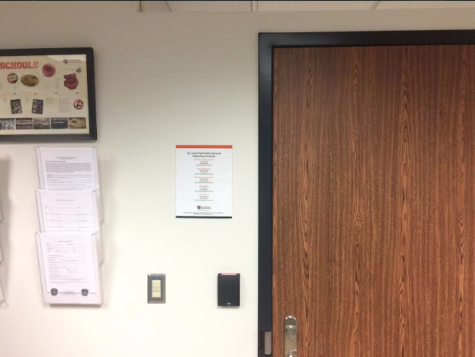 Human rights officer information posted in student office
