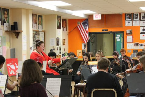 Orchestra prepares for Conference performance