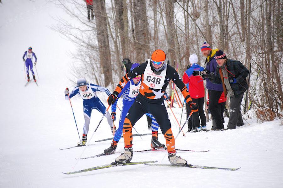 Senior Jackson Sokolowski competes at the State meet Feb. 16.