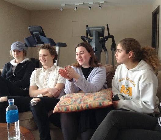 Film Club members Stephanie Reuter, Vince Callahan, Chloe O'Gara and Ruth Hope discuss