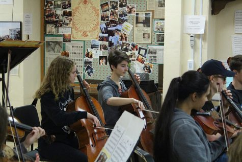 Orchestra students test their skills