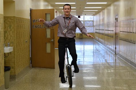Some math teachers stop unicycling