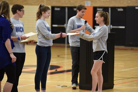 National Honor Society inducts members