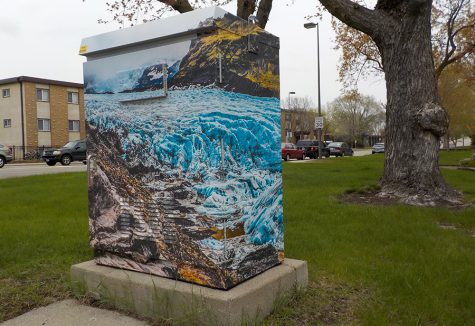 The utility box is found on 28th and Louisiana. Senior Nathaniel Sturzl won the competition.