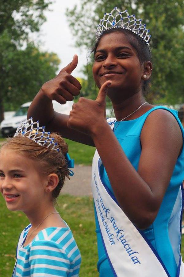Savita Oberdorfer at the Robbinsdale  Royalty Coronation on July 9.