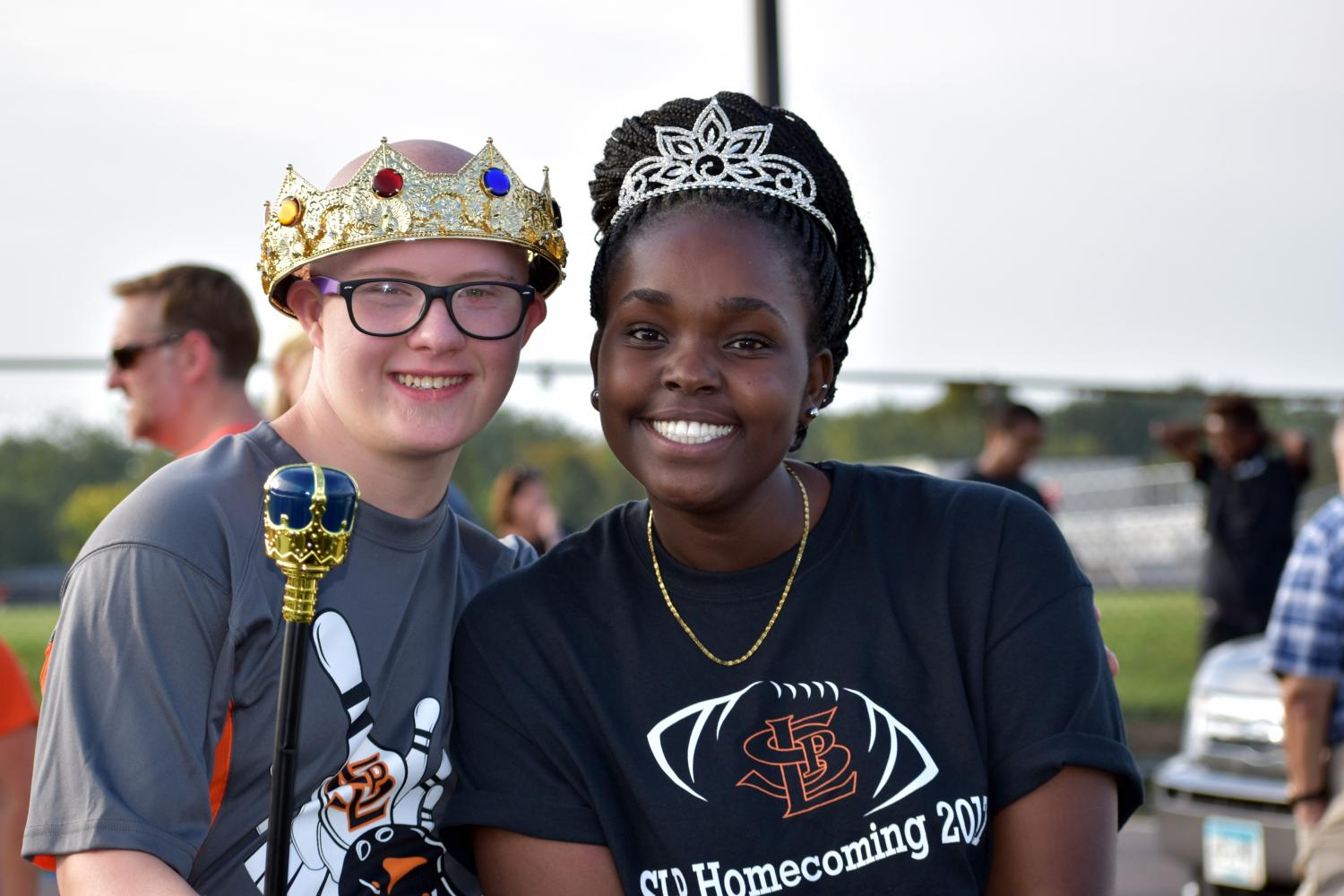 Homecoming+King+Terrance+O%27Brien+and+Queen+Doreen+Moranga+pose+while+getting+ready+for+the+homecoming+parade%2C+Sept.+15.+