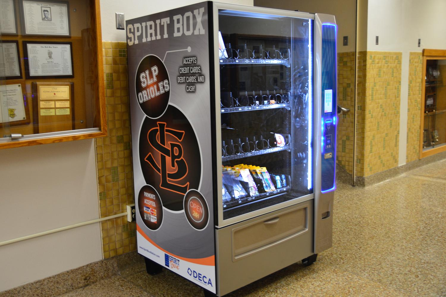 The+Spirit+Box+is+located+in+the+B1+hallway+near+the+field+house.+It+sells+chargers%2C+headphones%2C+pens%2C+and+deodorant%2C+among+other+things.