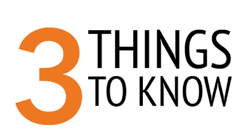 3 things to know: Week of Oct. 8