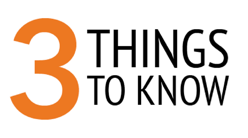 3 things to know: Week of Nov. 12
