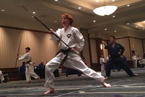 Athlete strives to move forward in karate