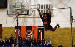 Gymnastics holds parent night, loses to Chaska-Chan