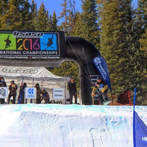 Snowboarder competes at the national level