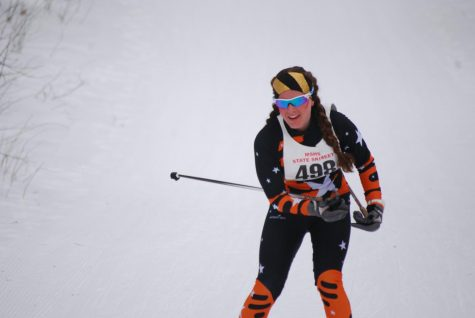 Senior skier competes at State