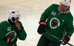 Minnesota Wild holds practice at Recreation Outdoor Center
