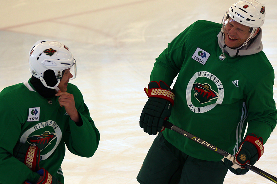 cheaper 7d292 2db92 Minnesota Wild holds practice at Recreation Outdoor Center ...