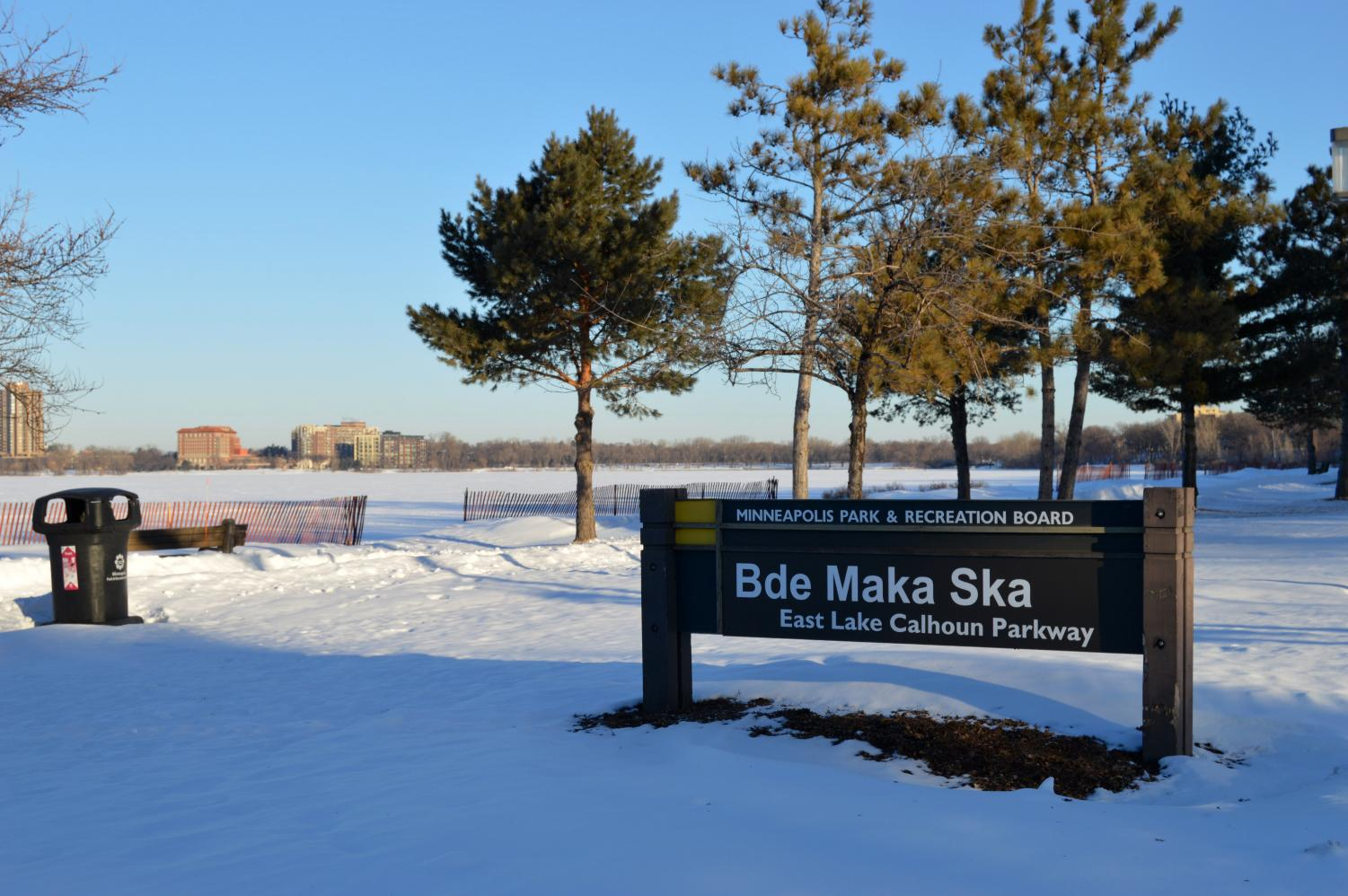 Updated signs replace former Lake Calhoun signs and advocate for Native American heritage. New signs were placed Jan. 29.