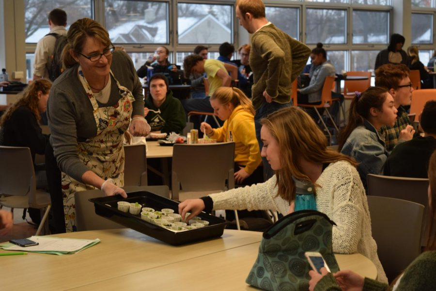 Cafeteria offers monthly vegetable samples
