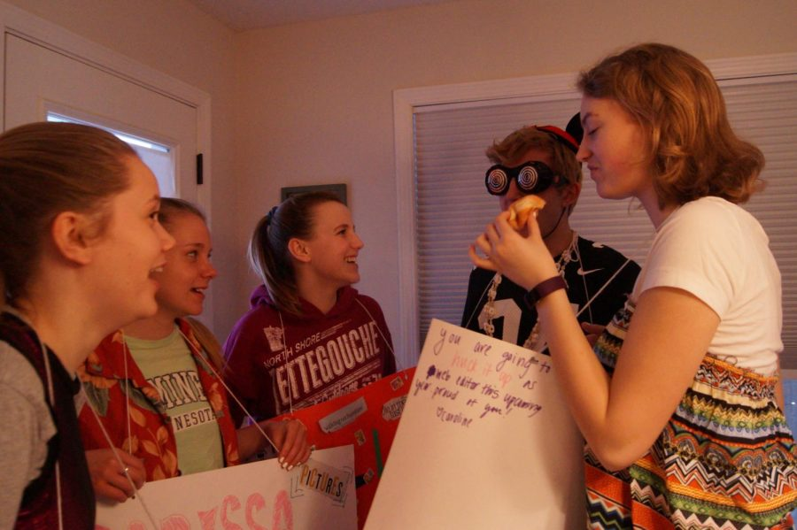 New editors sophomores Isabel Kjaer, Carissa Presdholdt, Ella Hammerstrand, Isaac Wahl and Marta Hill discuss their positions for the 2018-19 school year.