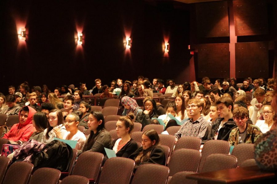 Senior meeting held April 11 discussing the Senior All Night Party and Prom. Prom will be May 5.
