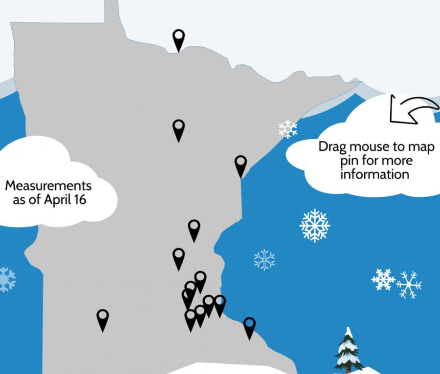 Snow storm breaks historical records in Minnesota
