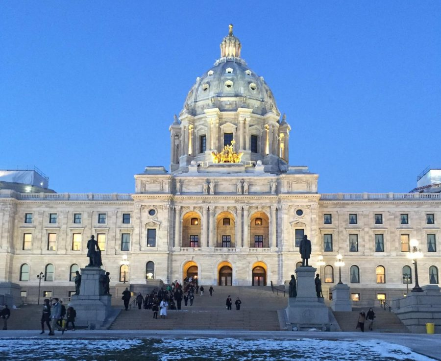 The Minnesota state capitol located in St. Paul is lit by the sun April 16. Here is where bills to protect indigenous women will be drafted.