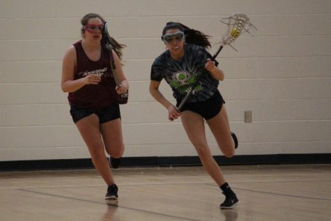 Girls' lacrosse kept indoors due to weather
