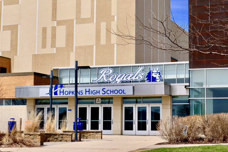 Hopkins high school increased its security this past year by adding alarms to all doors. Other schools in the Minneapolis area have also taken extra security measures.